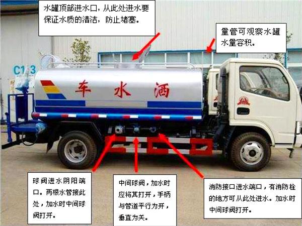 热销5吨东风环卫洒水车操作注意事项